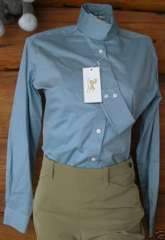 Rj Klassisch - Hunt Hemd - Gräulich Blau (Größe 30)