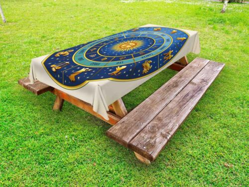 Vintage Astrology Outdoor Picnic Tablecloth in 3 Sizes Washable Waterproof