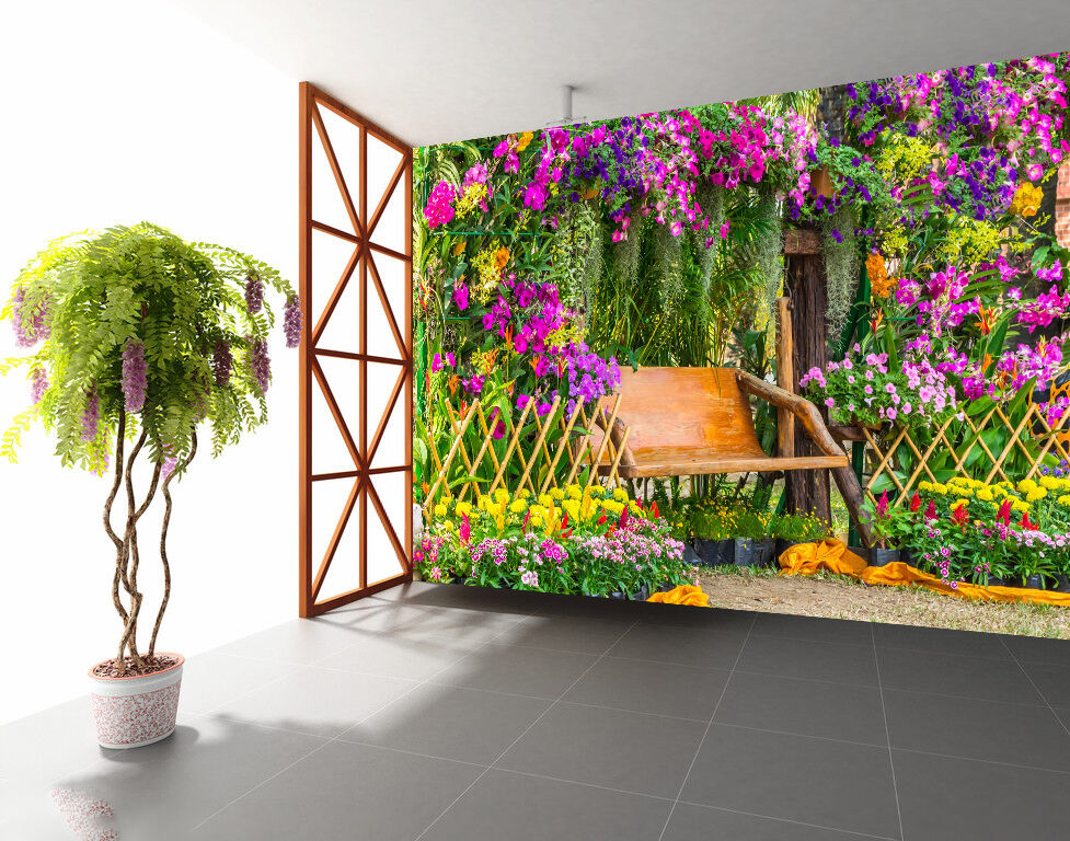 3D Potted Flowers 1174 WallPaper Murals Wall Print Decal Wall Deco AJ WALLPAPER