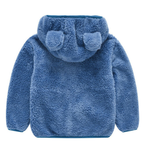 Toddler Kids Baby Boy Girl Teddy Bear Thick Warm Hooded Coat Jacket Outwear Tops