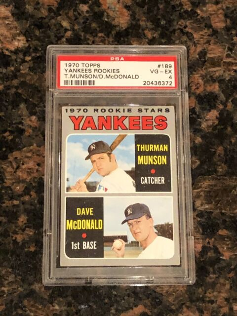 NY Yankees Thurman Munson 1970 Topps Rookie Card # 189 Free Shipping BEST OFFERS Considered Price Dropped