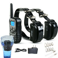 Rechargeable Waterproof Electronic Shock Remote Control 2 Dog Training Collar