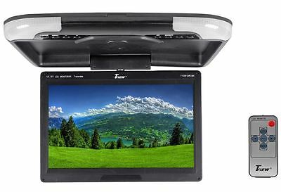 "Tview T135FDIR-BK 13"" Black High Resolution Flip Down Car Monitor + Built In IR"