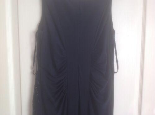 £ Abito Bnwt Embelished Maxi sera 99 Dress Monsoon Nero 10Rrp da Taglia zqMpUSVG