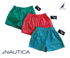 NWT-Nautica-Girls-Blue-Pink-Green-Eyelet-Shorts-Size-4-5-6-6X-7-8-10-12-NEW