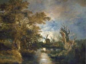 JOHN-CROME-BRITISH-MOONLIGHT-YARE-OLD-ART-PAINTING-POSTER-PRINT-BB5875B