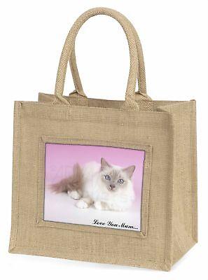 lila Birma-Katze' Liebe,die sie Mama 'Große natürliche jute-einkaufstasche Chr ,