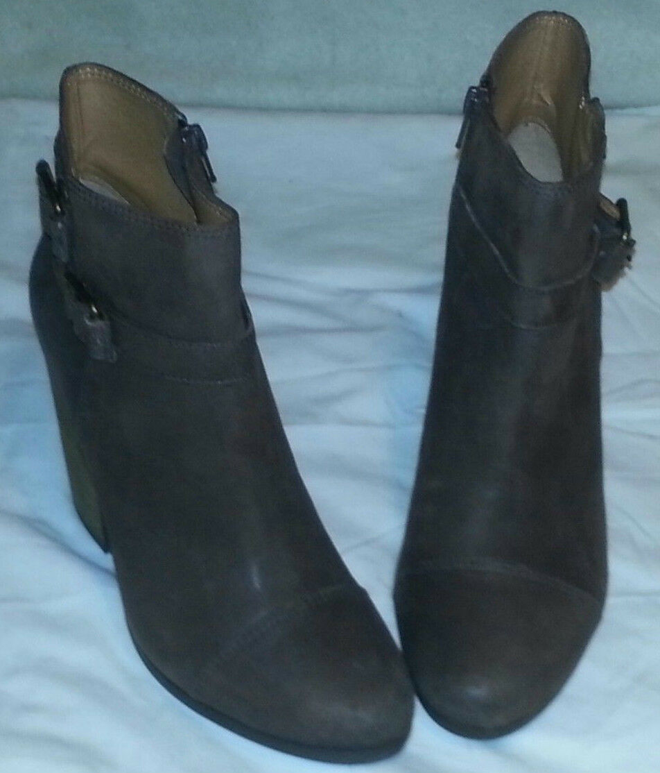 NEW LUCKY BRAND BROWN LAUREEN LEATHER ANKLE BOOTS W/ ZIPPER Damenschuhe'S SIZE 10