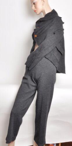 Vntg Comme Des Garcons 2pc Gray Knit Asymetrical J