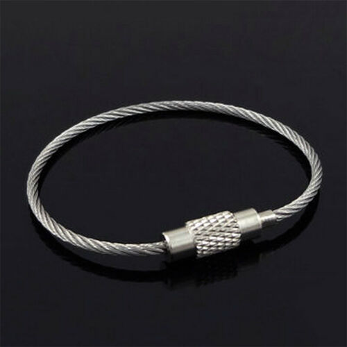 10XS Useful Camping Hiking Outdoor Cable Wire Keychain Stainless Steel Key Chain