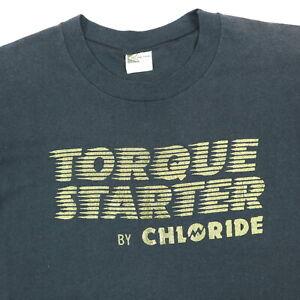 Vtg-Torque-Starter-K-Brand-T-Shirt-M-Single-Stitch-Thin-Faded-Black-Cars-Grunge