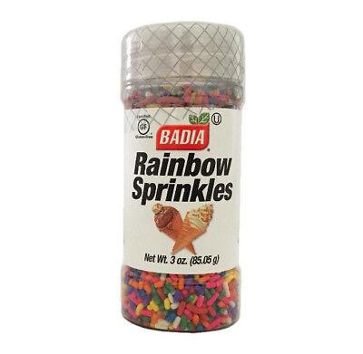 Gentle 3 Oz-jar Badia/rainbow/sprinkles/toppings/cookies/cup/cake/decoration/kosher Home & Garden