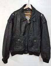 Giubbino Pelle usa air force aviazion top gun vintage 80' jacket aviator Air For