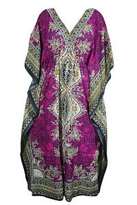 Women-Kaftan-Light-Viscose-Kimono-Pink-Kaftan-Night-Wear-Dress-Free-Shipping