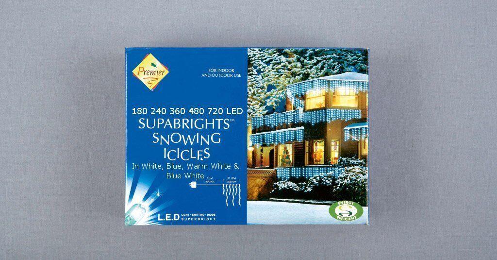 Noël Xmas Lumières LED Flocons Flocons Flocons glaçons interieur maison arbre chaud / blanc | Perpignan  1b82f1