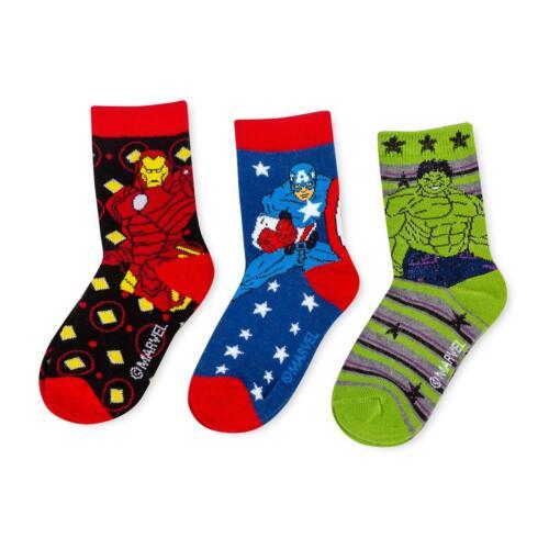 Childrens Avengers Triple Pack Socks