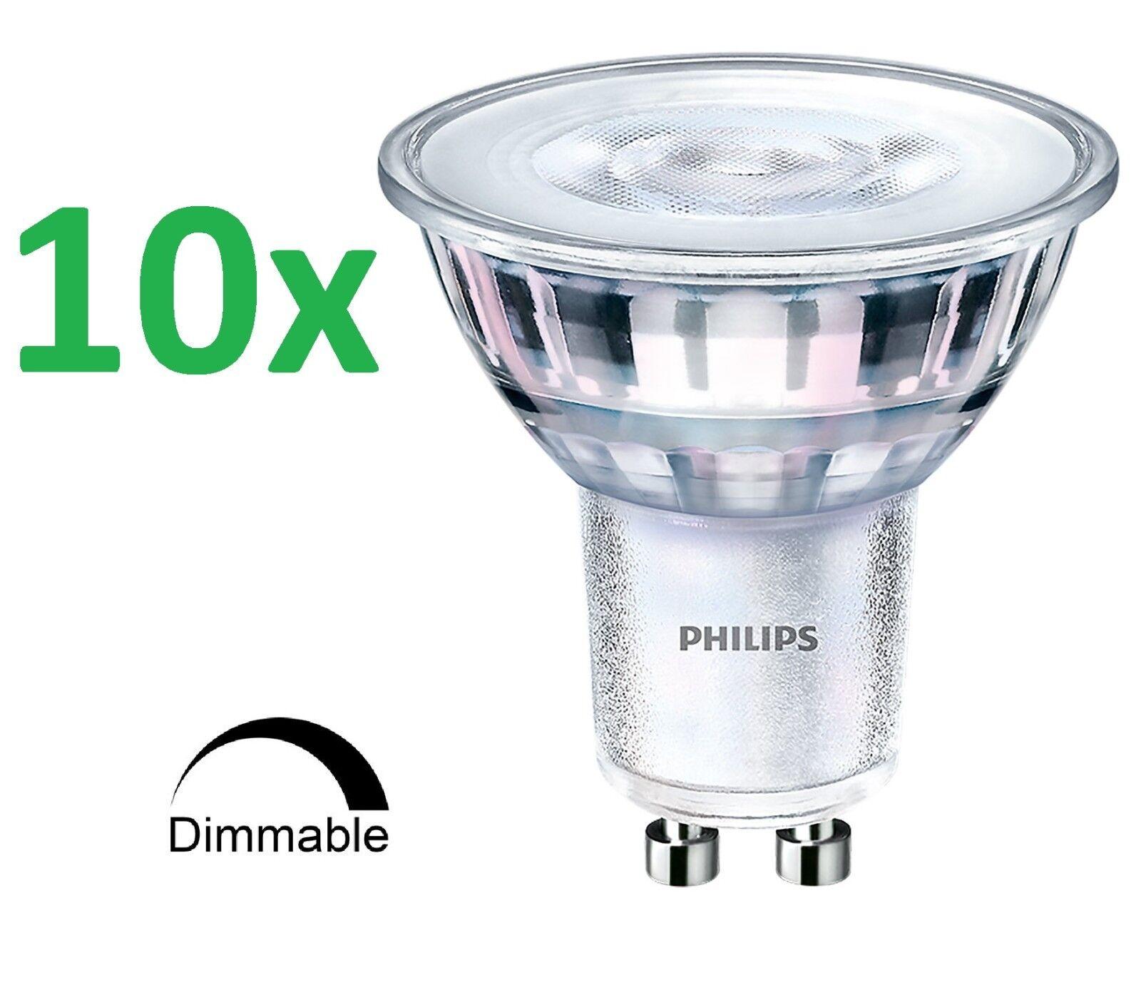 10x Master Philips LED spot emisor gu10 3,7-35w 2700 regulable ancha emisor 60d