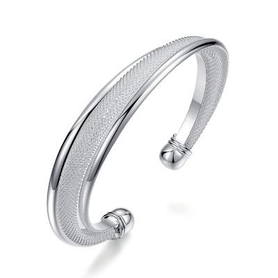 Armband Armreif 1,5 cm breit Metall Armspange silber -farbig Größe variabel NEU