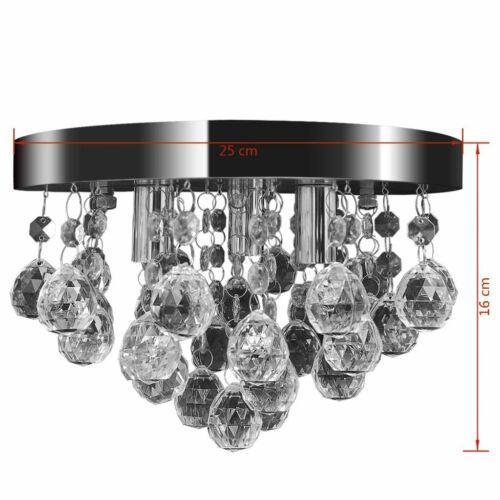 vidaXL Deckenleuchte Chrom Kristall Kronleuchter Deckenlampe Leuchte Lüster