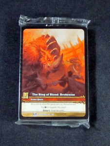 The Warmaul Champion Extended Art World of Warcraft WoW TCG Ring of Blood 25