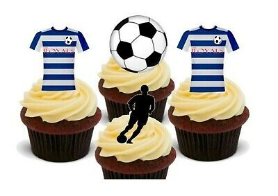 Reading Colours Football Mix Premium Stand Up Premium Card Cake Toppers Birthday