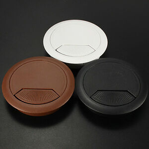 Plastic Grommet Hole Cover 60mm For Pc Computer Desk Table