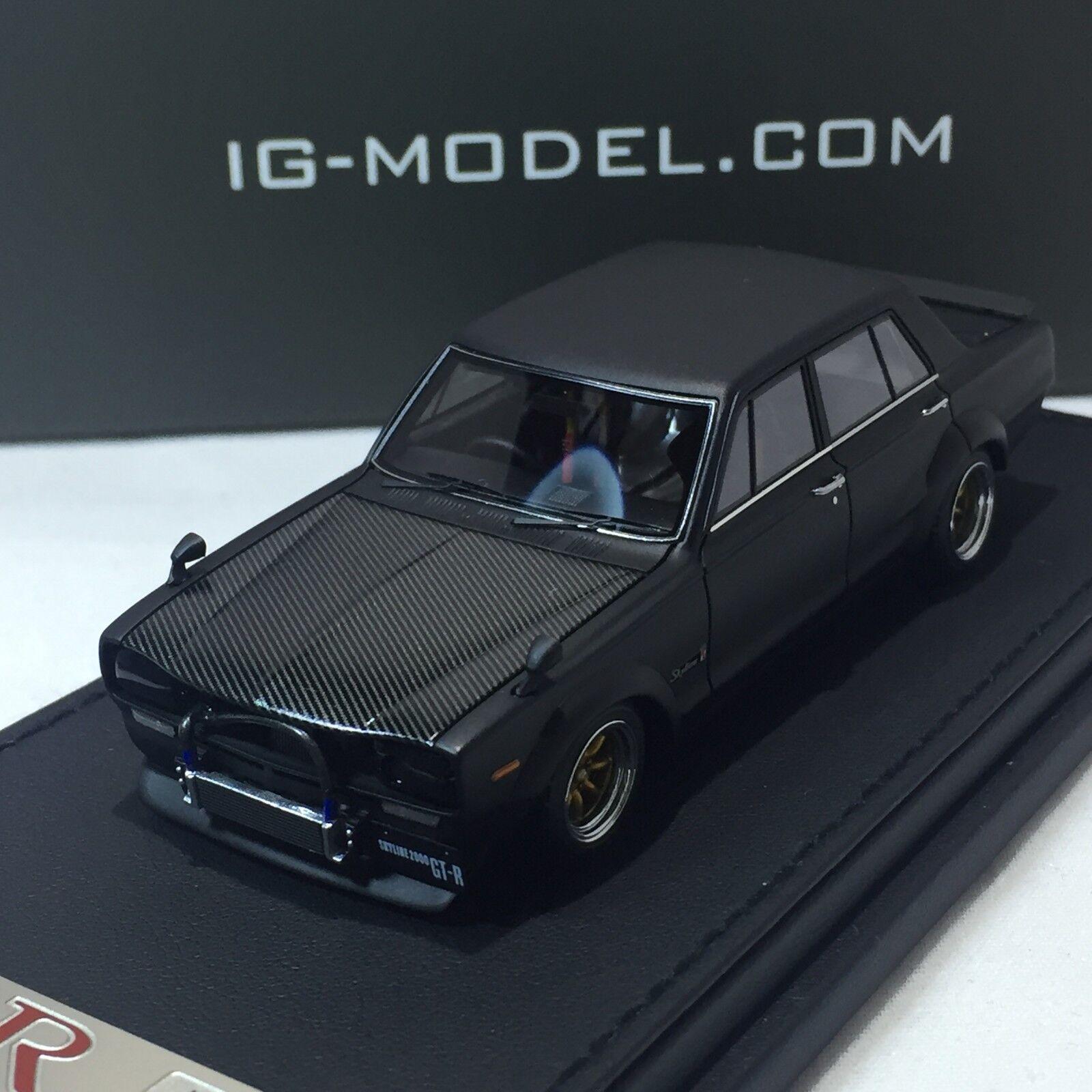 1 43 Scale ignitional IG Nissan Skyline 2000 Gtr PGC10 Noir IG0610
