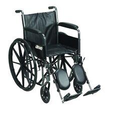 Drive Medical Silver Sport 2 Wheelchair w/Detachable Full Arms & Elevating Leg