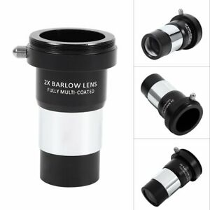 New-1-25-034-2X-Barlow-Lens-Multi-coated-Metal-for-Telescope-Eyepiece-Astronomy