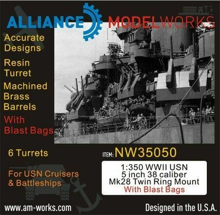 Alliance Model Works 1:350 WWII US Navy Vessel Wiring Cable Router #NW35020