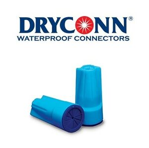 DryConn 62335 50 Pack Aqua/Blue Waterproof Connector Silicone King Innovation