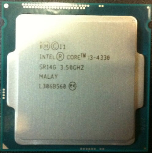 Intel CPU i3-4330 Dual-Cores 3.5Ghz 4MB LGA1150 SR1NM TDP 54W
