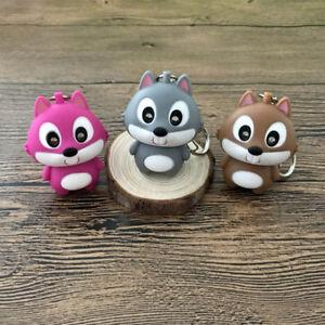 Cute-Squirrel-Shape-LED-Keychain-With-Sound-Key-Pendant-Mini-Flashlight-Kids-Toy