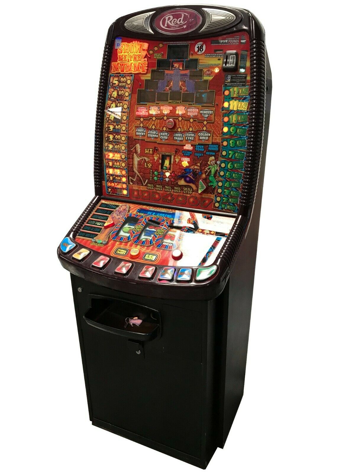 Show Me The Mummy Fruit Machine - Ready to Play - Games Room Home Bar Man Cave