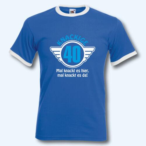40 T-shirt rétro-shirt voluptueuse 40 ringer t anniversaire