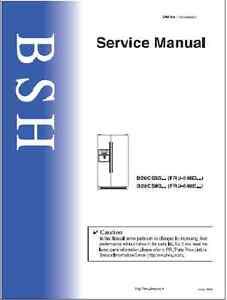 repair manual bosch siemens gaggenau refrigerators choice of 1 rh ebay com bosch fridge freezer repair manuals Who Makes Bosch Refrigerators