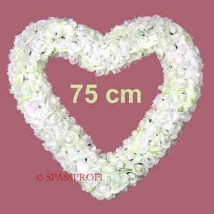 Grosses Rosenherz 75cm Herz Aus Rosen Schmuck Hochzeit Blumen