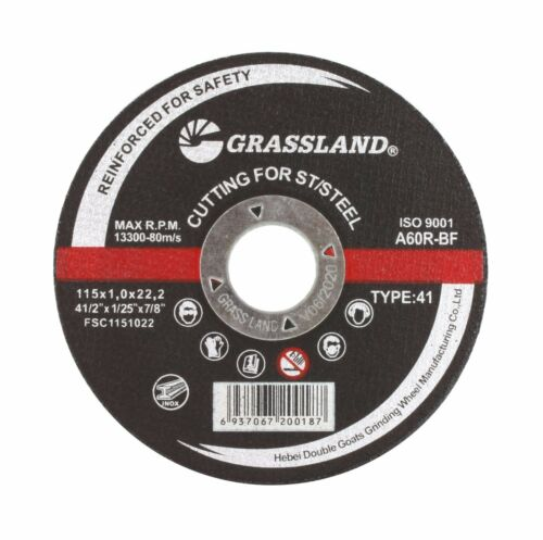 """Cutting Disc Stainless Steel Cut-off wheel 4-1//2/"""" x 0.04/"""" x 7//8/"""" T41 100 PACK"""