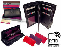Mala Rfid Ladies Quality Real Leather Large Tab Purse Wallet Coin Security Card