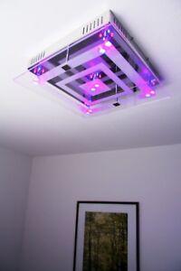 Design Deckenlampe Deckenleuchte LED Farbwechsel mit Fernbedienung Lampe Leuchte