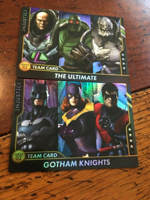 2-FOIL Team Cards Injustice Series 2 Arcade Game Gotham Knights The Ultimate