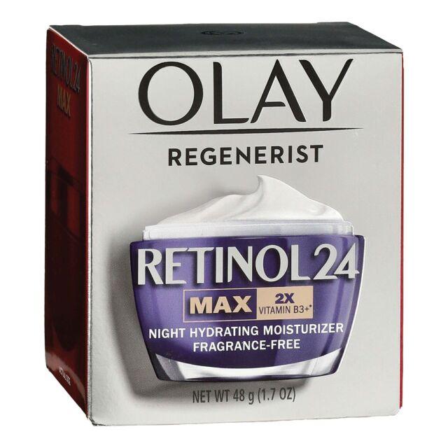 Olay Regenerist Retinol 24 MAX 2X Night Face Moisturizer, 1.7 OZ Vitamin B3+