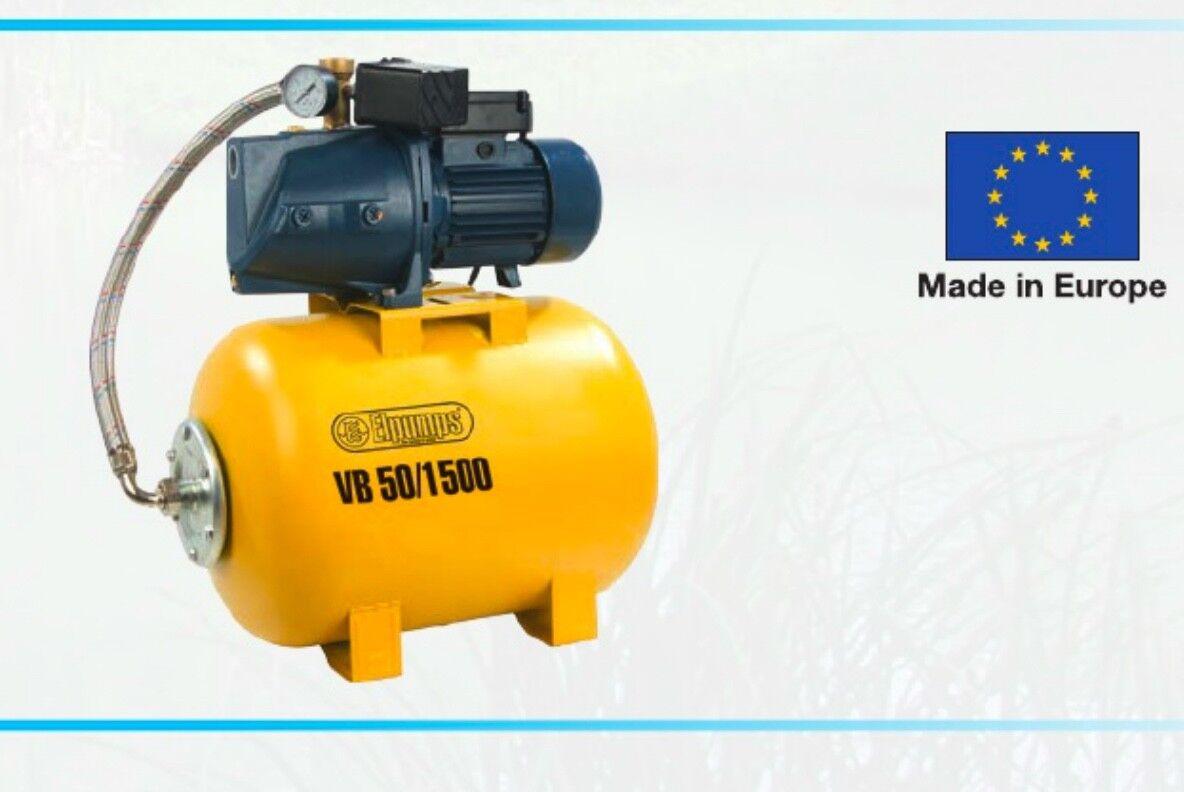 Pompe CUVE CLOSE CLOSE CLOSE électrique pompe 1500W VB 50 1500 RÉSERVOIR 50L acqua 4d9d86