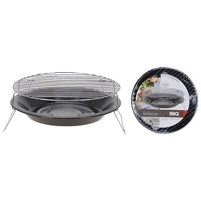 Round Portable Table Top BBQ Camping Fishing Outdoor BBQ Barbecue Grill on Legs