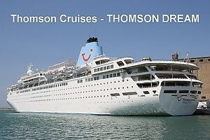 SOUVENIR FRIDGE MAGNET Of CRUISE SHIP THOMSON DREAM THOMSON - The thomson dream cruise ship