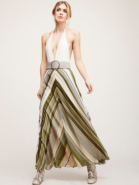 5a26593fa33 NEW FREE PEOPLE  128 DANCE IN A STREET MAXI SKIRT SZ 8