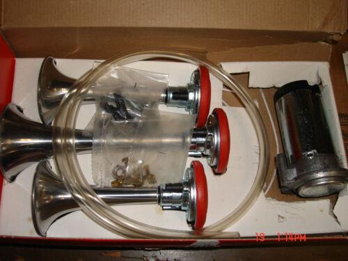 truck,van,rvs,loud horn,triple blast 12 volt kit anes