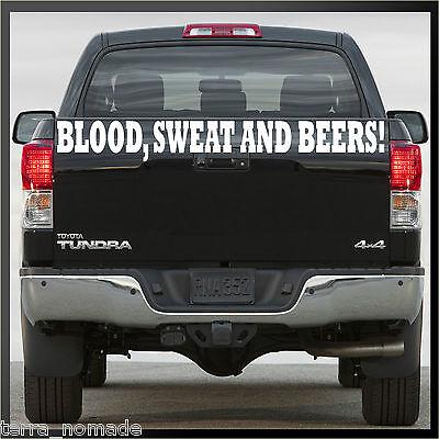 Blood Sweat and Beer gaz Fast Loud Hot Rod VW Euro Singe Van sticker vinyl bs7