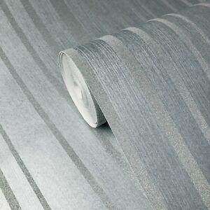 Modern-Glassbeads-lines-striped-textured-blue-teal-silver-Metallic-Wallpaper-3D