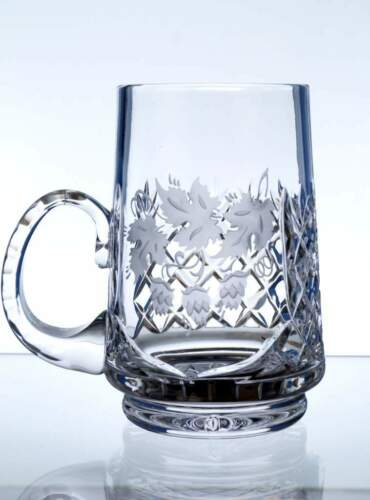 Bierkrug Bleikristall Bierseidel Bierglas Maßkrug Becher Russia Germany Hopfen